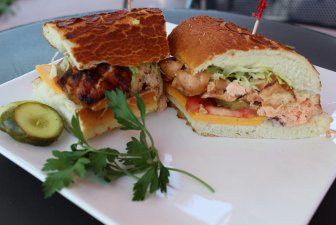 BBQ Salmon Sandwich